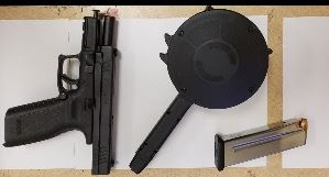 Handgun-High Capacity Magazine-Magazine with Ammunition